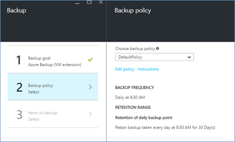 VM Backup Policy